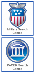 Military Combo Search and PACER Combo Search