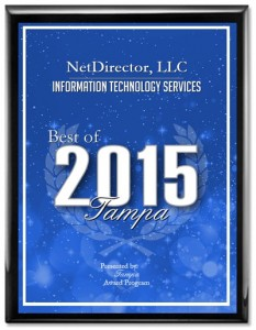 NetDirector: The Best of Tampa Information Technology 2015